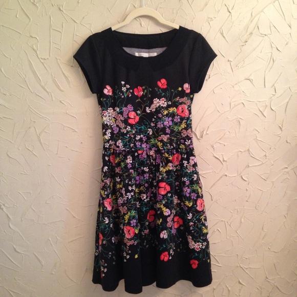 Lc Lauren Conrad Dresses Black Floral Dress Poshmark